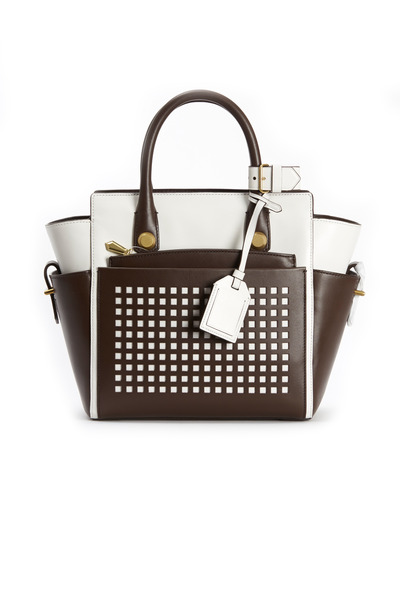 Reed Krakoff - Atlantique Bark & White Leather Mini Tote