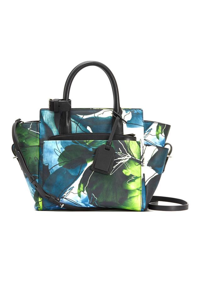 Atlantique Floral Leather Mini Handbag