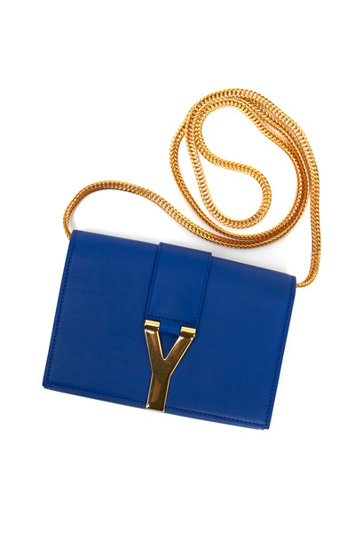 Saint Laurent - Majorelle Blue Leather Small Satchel