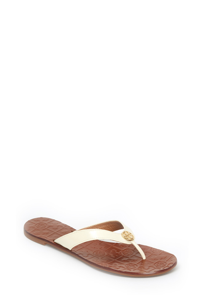 Thora White Saffiano Sport Sandals