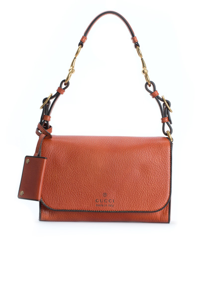 Gucci - Harness Orange Leather Shoulder Bag