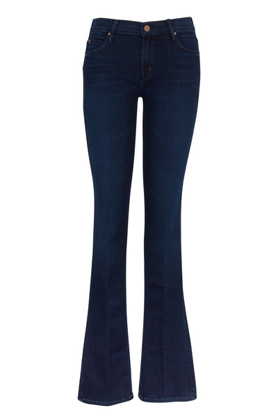 Mother Denim - The Runaway Ink Wash Skinny Flare Jeans