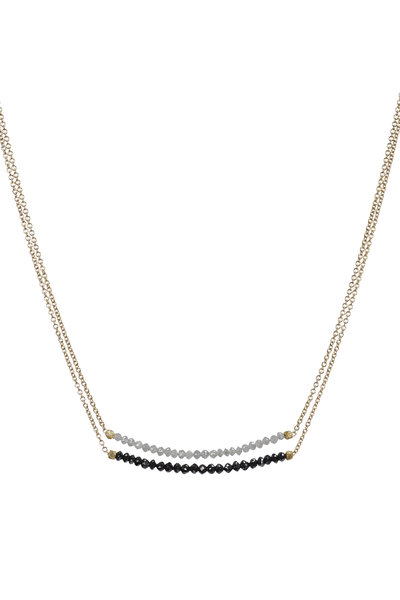 Dana Kellin - Yellow Gold Gray & Black Diamond Double Necklace