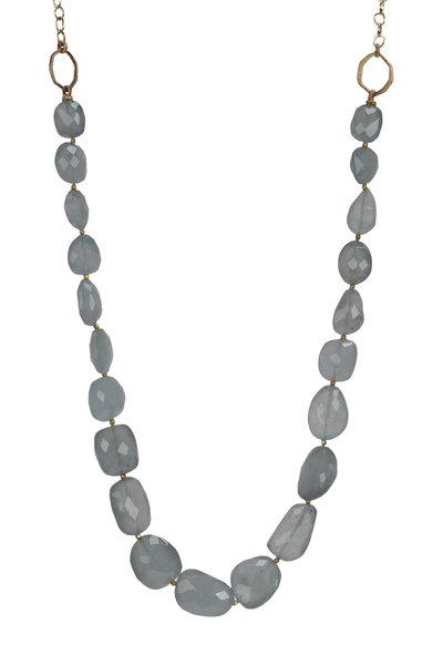 Dana Kellin - Yellow Gold Aquamarine Necklace