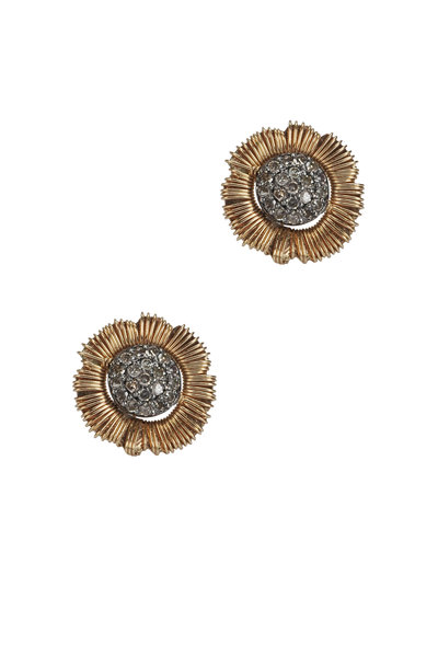 Dana Kellin - Yellow Gold Pavé Diamond Earrings