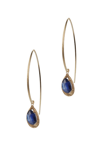 Dana Kellin - Yellow Gold Kyanite Earrings