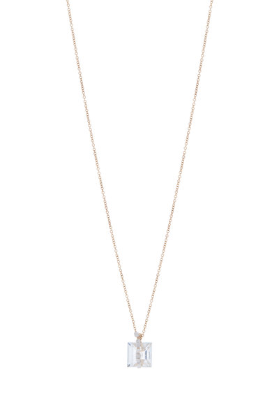 Dana Kellin - Yellow Gold White Topaz Pavé Diamond Necklace