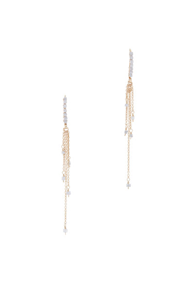 Dana Kellin - Yellow Gold Gray Diamond Earrings