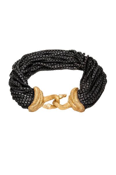 Sorellina - Yellow Gold & Silver Serpente Snake Bracelet