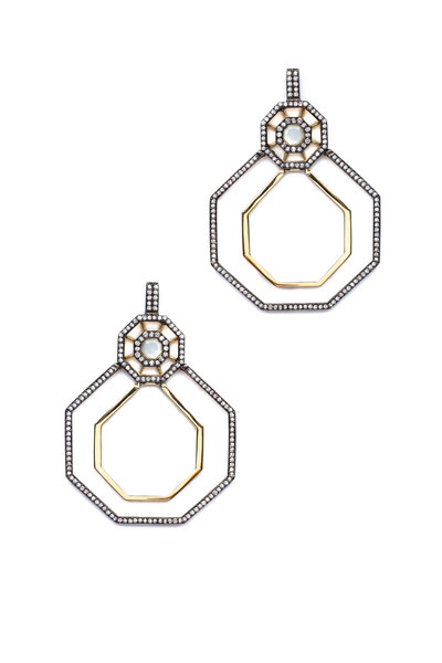 Sorellina - Otto Doppia Lampadario Diamond Earrings