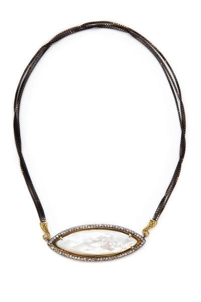 Sorellina - Gold & Silver Diamond Lungo Pendant Necklace