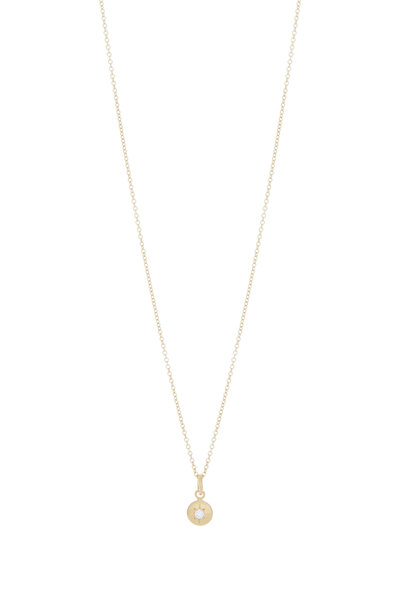 Caroline Ellen - 20K Yellow Gold Diamond Pendant Necklace