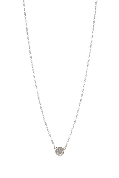 Caroline Ellen - 18K White Gold & Palladium Pavé Diamond Necklace