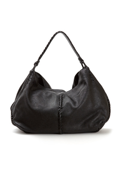 Bottega Veneta - Black Washed Cervo Hobo Bag