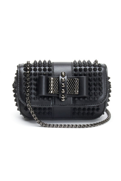 Christian Louboutin - Mini Black Leather Stud Crossbody Handbag
