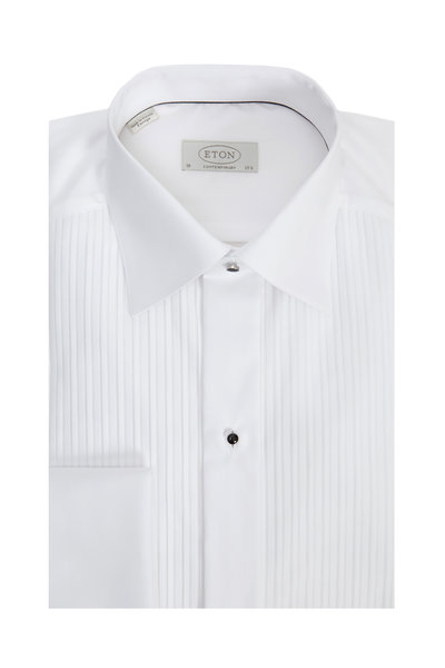 Eton - White French Cuff Contemporary Fit Tuxedo Shirt