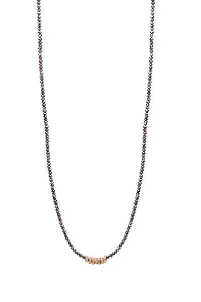 Dana Kellin - Black Diamond with Gold Bead Necklace