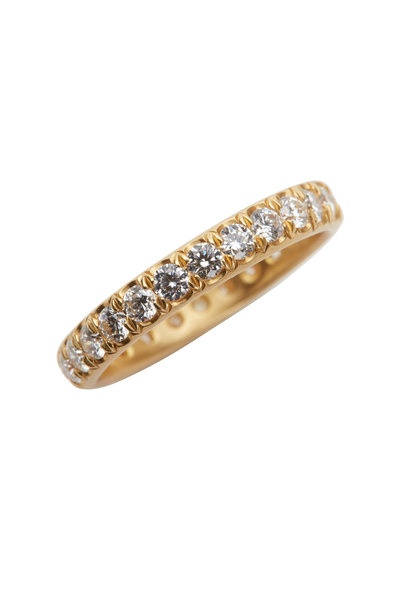 Caroline Ellen - 20K Yellow Gold Pavé Diamond Band
