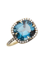 Sylva & Cie - Good Girl Gone Bad Blue Topaz Diamond Ring