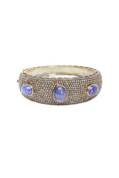 Loren Jewels - Gold & Silver Tanzanite Diamond Bracelet