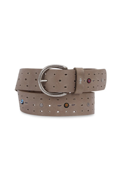 Henry Beguelin - Sand Perforated Leather & Multi Stones Belt