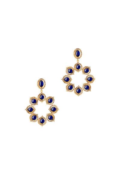 Syna - Blue Sapphire Kamala Earring
