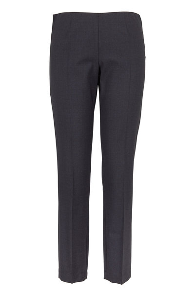 Brunello Cucinelli - Anthracite Lightweight Wool Pull-On Pants