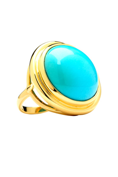 Syna - Mogul Yellow Gold Turquoise Ring