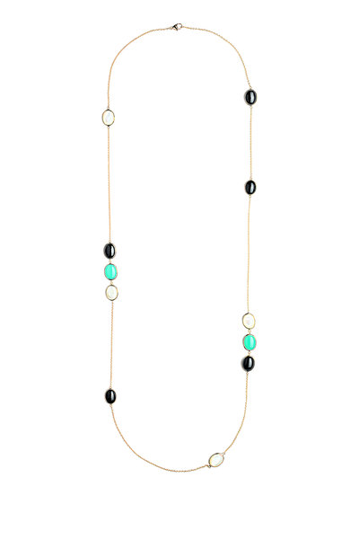 Syna - Paris Gold Chrysoprase Spinel Cobblestone Necklace