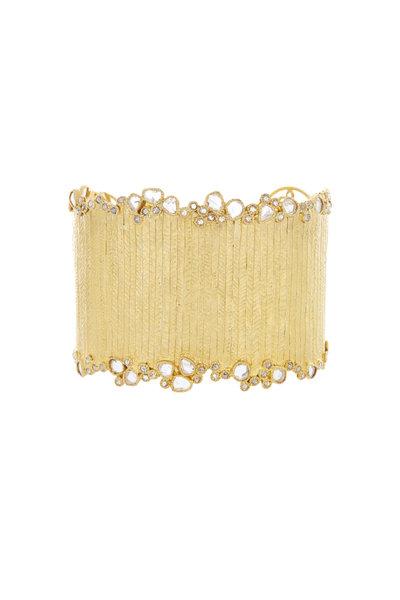 Coomi - 20K Yellow Gold Antiquity Diamond Cuff