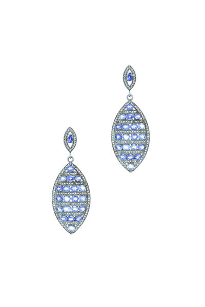 Loriann - Gold Tanzanite Diamond Earrings