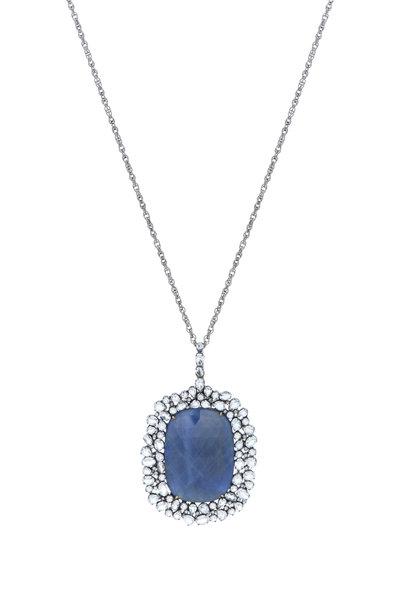Loriann - Gold & Silver Sapphire, Topaz & Diamond Necklace