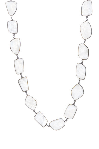 Loriann - Sterling Silver Moonstone Accessory Chain