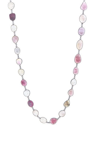 Loriann - Sterling Silver Sapphire Necklace