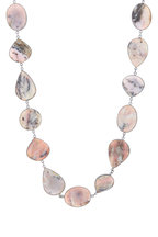 Loriann - Sterling Silver Pink Opal Accessory Chain Necklace