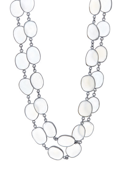Loriann - Sterling Silver Milky Moonstone Accessory Necklace
