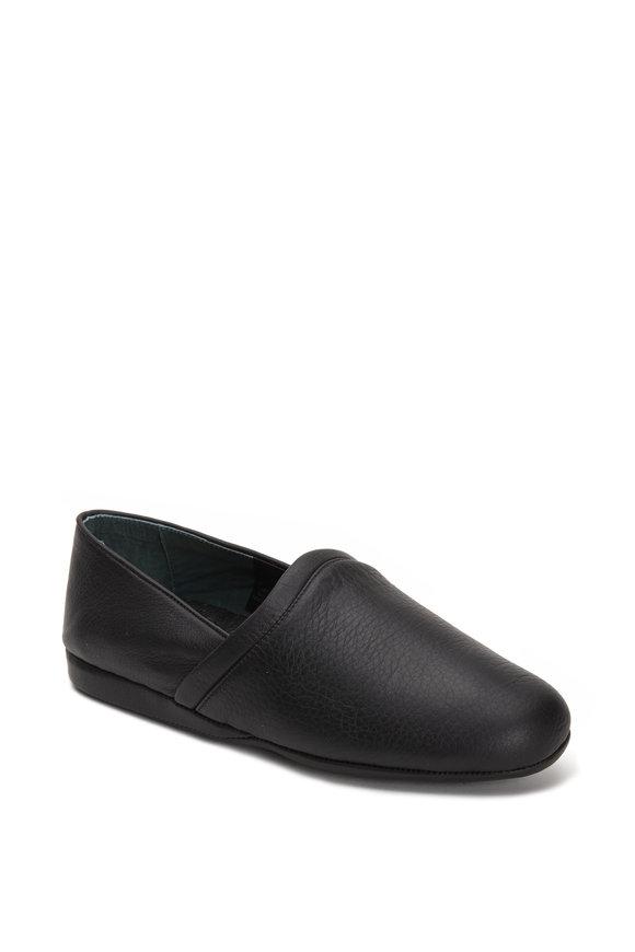 LB Evans Aristocrat Opera Black Leather Slipper