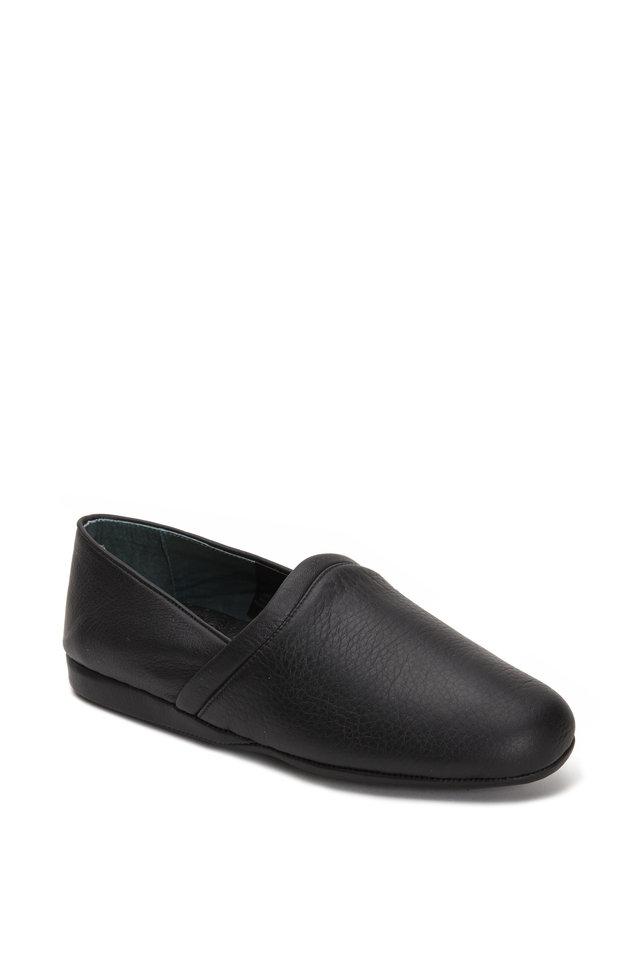 Aristocrat Opera Black Leather Slipper