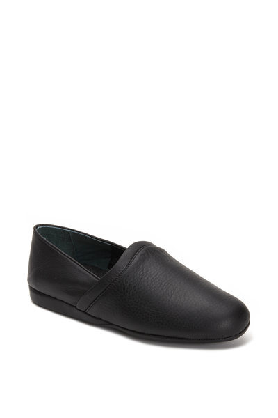 LB Evans - Aristocrat Opera Black Leather Slipper