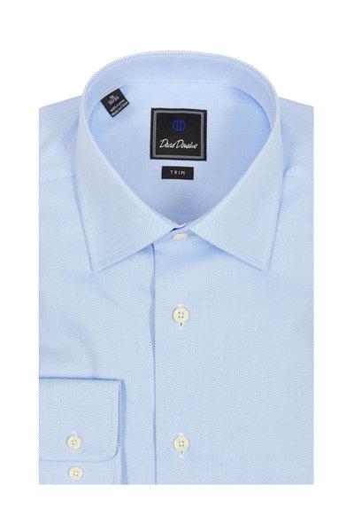 David Donahue - Light Blue Trim Fit Dress Shirt