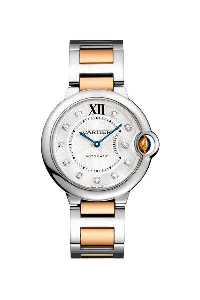 Cartier - Ballon Bleu Steel & Rose Gold Diamond Watch