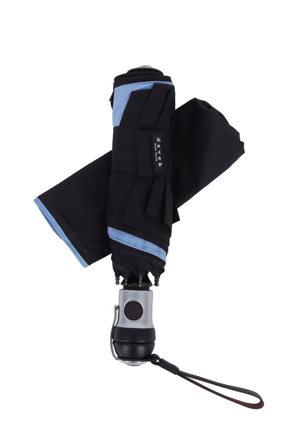 Davek  Solo Black & Pale Blue Umbrella