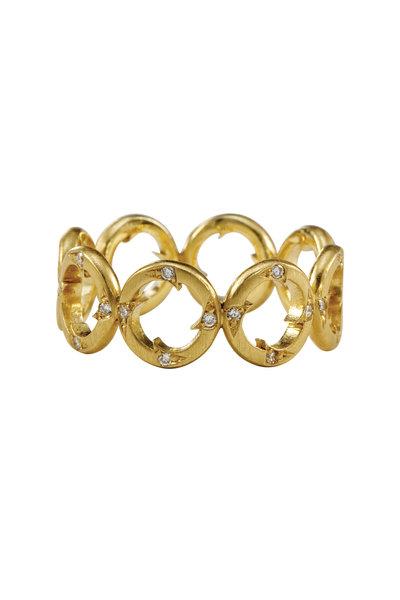 Sylva & Cie - 18K Yellow Gold Diamond Thorn Band