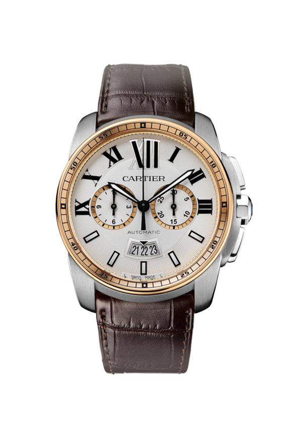 Cartier Calibre de Cartier Chronograph Watch, 42mm