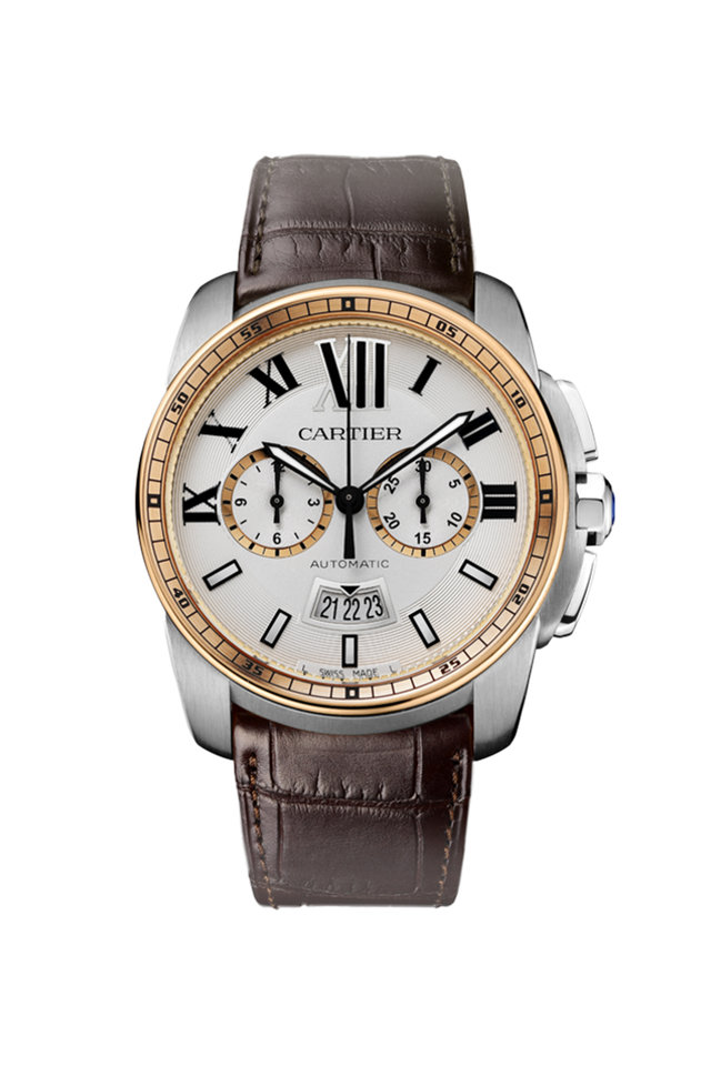 Calibre de Cartier Chronograph Watch, 42mm