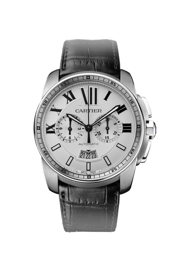 Cartier Calibre de Cartier Chronograph Watch, 42mm