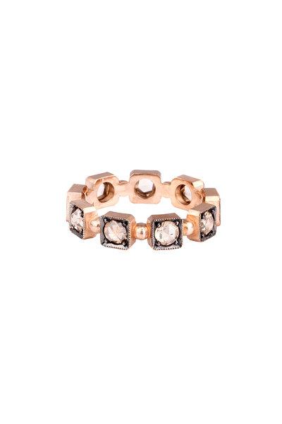 Sylva & Cie - 14K Rose Gold Champagne Diamond Ring