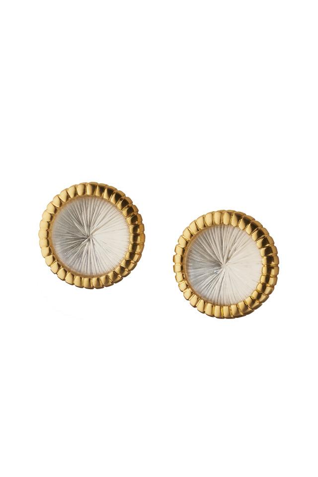 Yellow Gold Starburst Stud Earrings