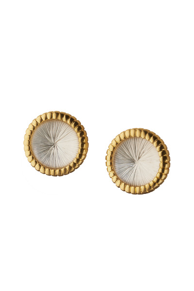 Monica Rich Kosann - Yellow Gold Starburst Stud Earrings