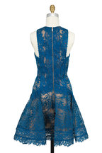 Elie Saab - Capri Blue Lace Fit & Flare Mini Dress